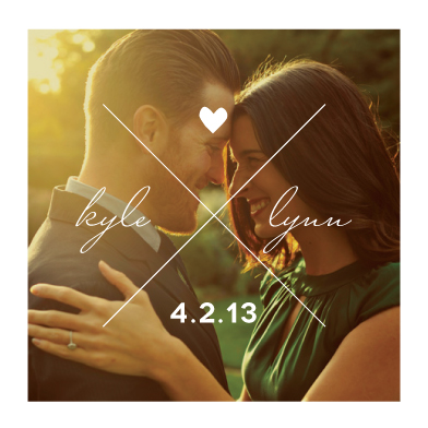 save the date cards - XOXO by Heather.