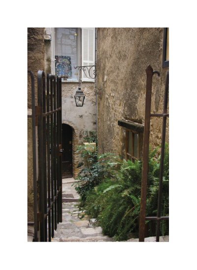 art prints - French Gated Entryway by Jacquelyn Hardies