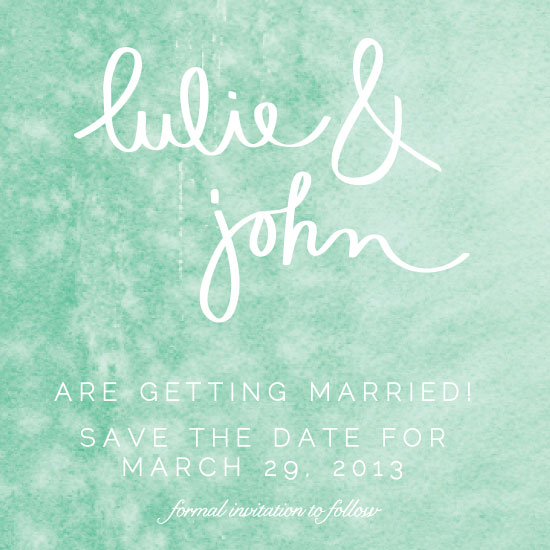 save the date cards - Fresh Watercolor by Green Tie Studio