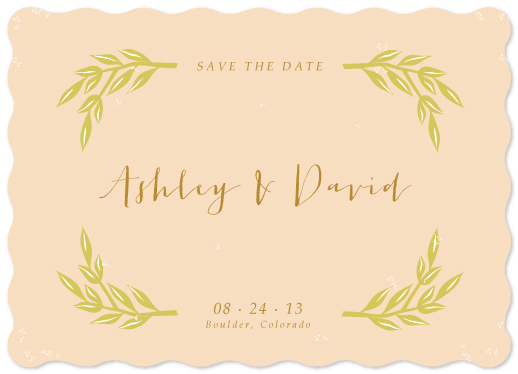 save the date cards - Love & Branches by Monica Schafer