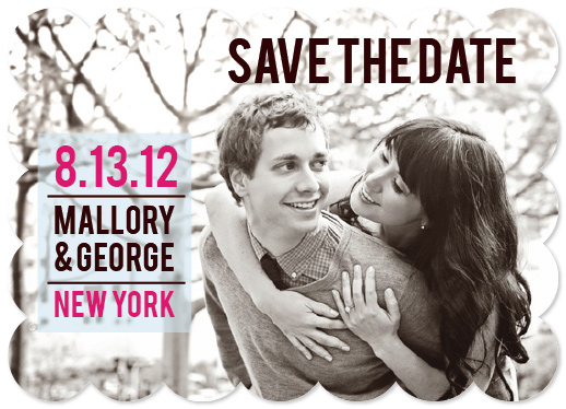 save the date cards - Brooklyn Bold by Roseville Designs