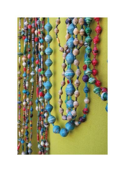 art prints - Uganda Paper Bead Necklaces 3 by Wendy Van Ryn
