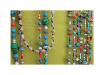 Uganda Paper Bead Necklaces - Landscape Series 2