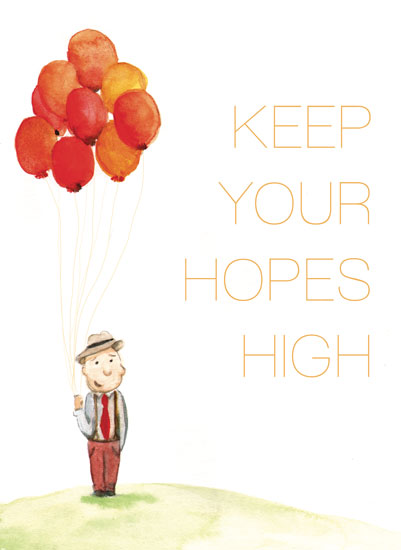 art prints - Keep Your Hopes High by Kelsey De Weerd