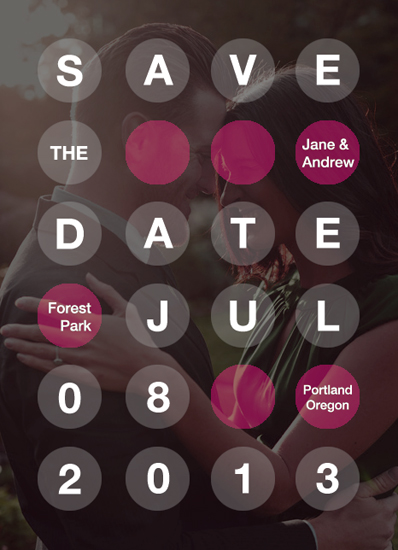 save the date cards - Mix Dots by THE OOK