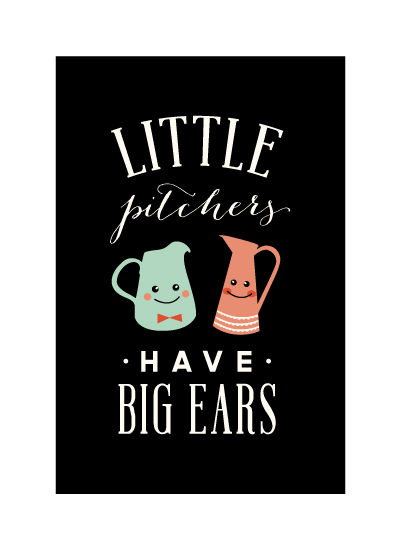 art prints - little pitchers  by Frooted Design