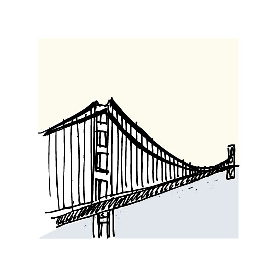 art prints - San Francisco Golden Gate by Phrosne Ras