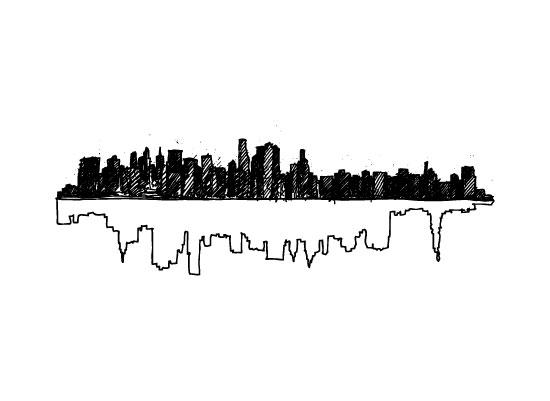art prints - New York Skyline Doubled up by Phrosne Ras
