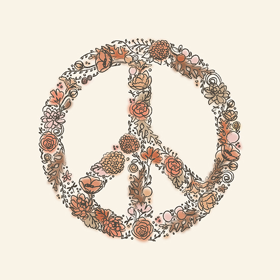 art prints - grow peace by Snow and Ivy