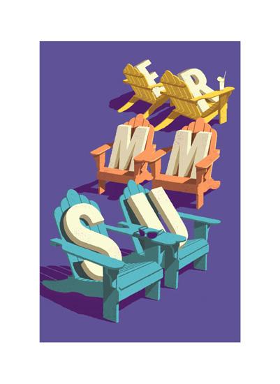 art prints - summer_chairs by John Sposato