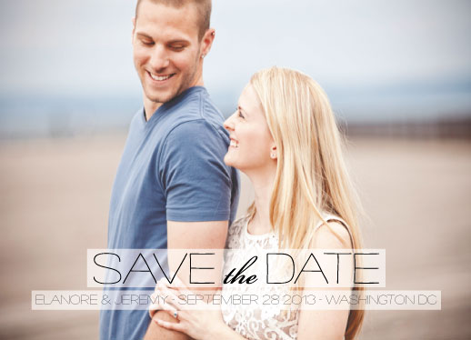 save the date cards - A Breath of Fresh Air by Steel Petal Press