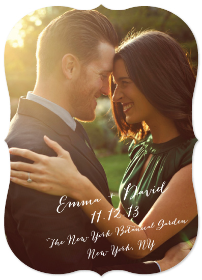 save the date cards - Emma & David by Kim Dietrich Elam
