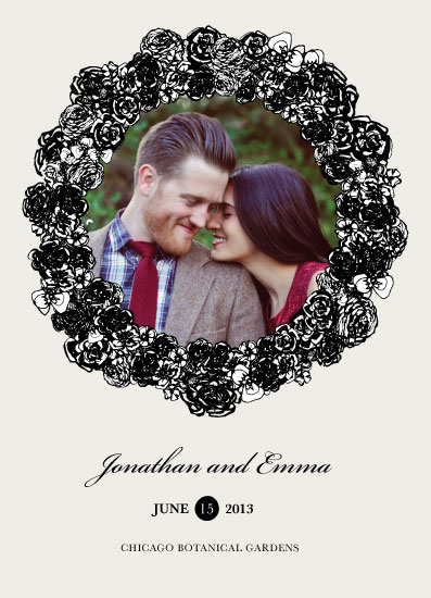save the date cards - Unity Wreath by Jules and Ink