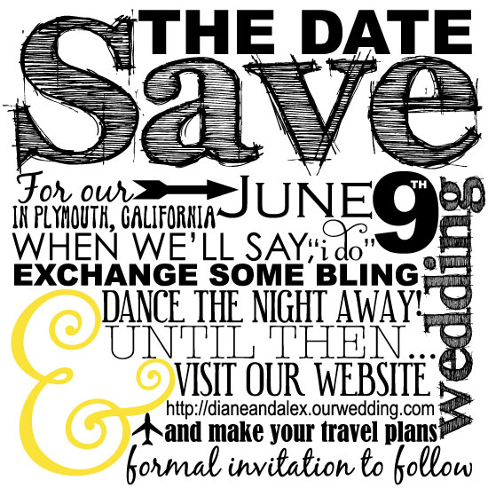 save the date cards - Exchange Some Bling by Camille Kirch