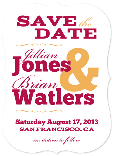 save the date cards - Western Woody Type by Steel Petal Press