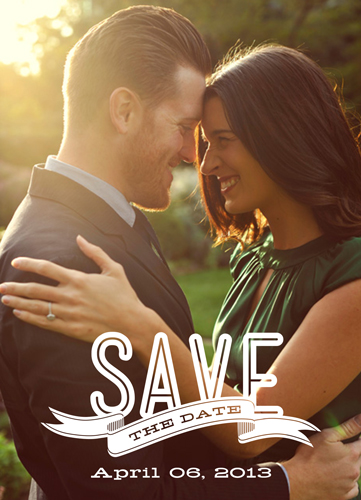 save the date cards - Banner Overlay by The Picture Portal