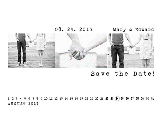 save the date cards - White Marking by THE OOK