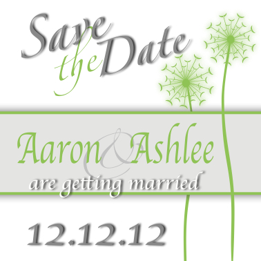 save the date cards - Dandelion II by Ashlee Bordes