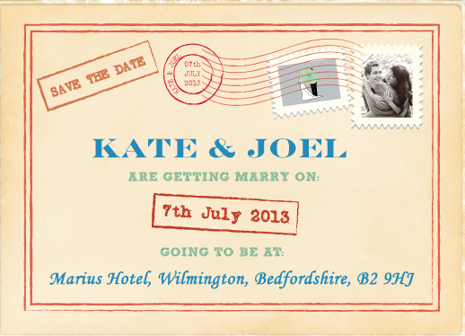 save the date cards - Vintage post by Jade Tran