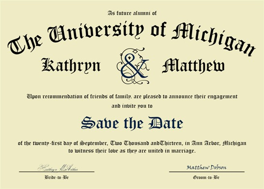 save the date cards - Diploma Save the Date by Jennifer Wehe