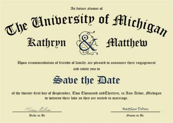 Diploma Save the Date