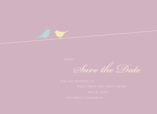 save the date cards - Birds on a Wire by Devon J. Carlson
