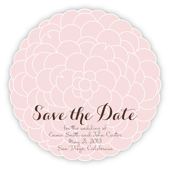 save the date cards - Hydrangea by Devon J. Carlson