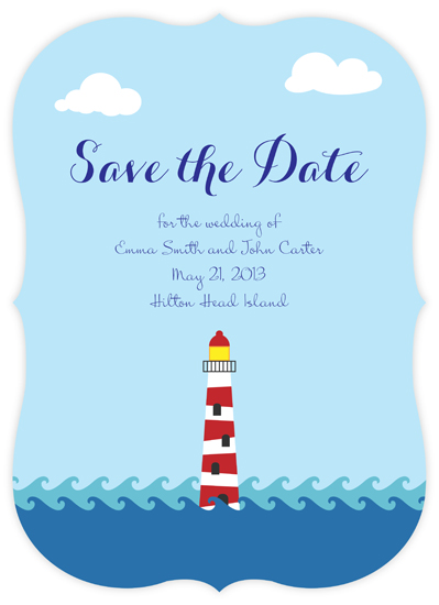 save the date cards - Lighthouse by Devon J. Carlson