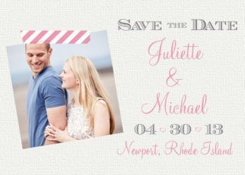 Washi Wedding Save the Dat