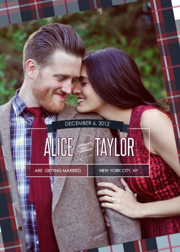 save the date cards - I Love You More Than Plaids by Keyonna
