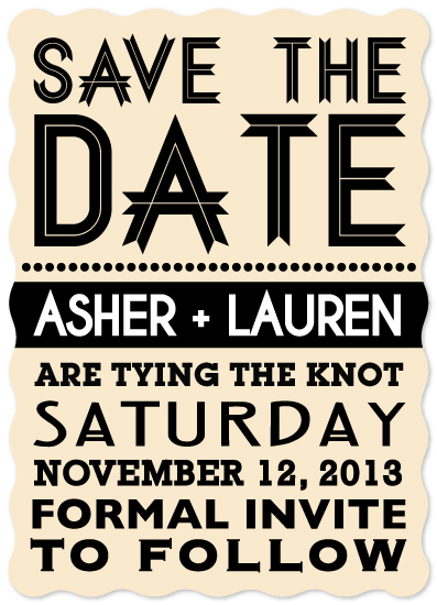 save the date cards - Typography Fun by Fruits Nuts Flakes