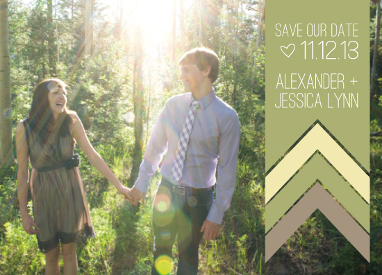 save the date cards - Deco Chevron with Photo by Fruits Nuts Flakes