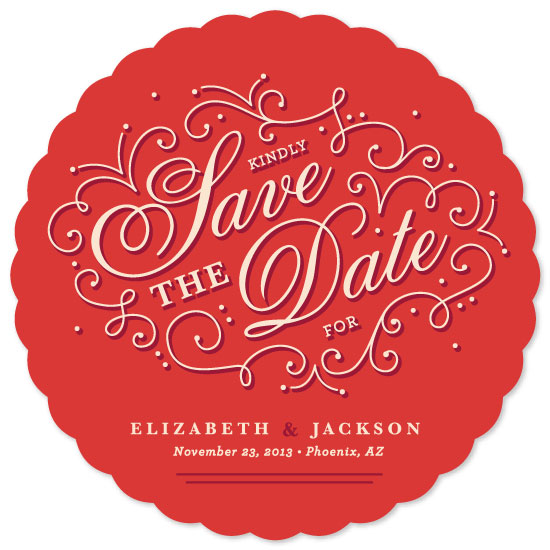 save the date cards - Juliet by Kristen Smith