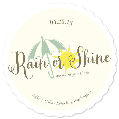 save the date cards - Rain or Shine by hannahcloud DESIGN