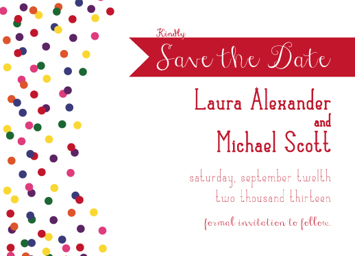 save the date cards - Colorful Confetti by Fruits Nuts Flakes