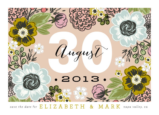save the date cards - Cottage Garden by Alethea and Ruth