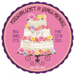 Save the Date Wedding Cake