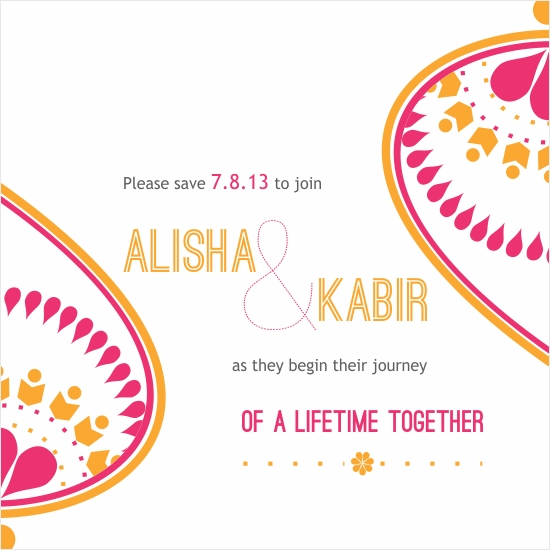 save the date cards - A Lifetime Together by Priyanka Nayar