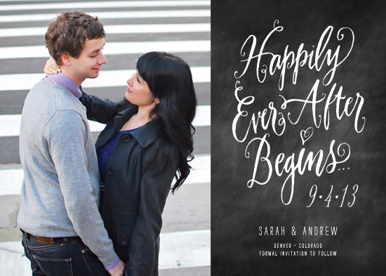 save the date cards - Happily Every After Begins by Laura Bolter Design