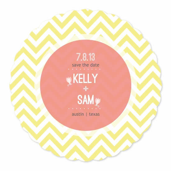 save the date cards - Sunny Chevron by Priyanka Nayar
