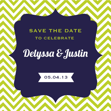 save the date cards - Chevron Lime by Stacy Fox