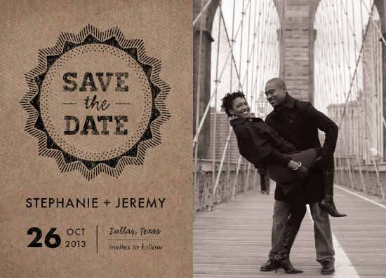save the date cards - krafty by Rebecca Bowen