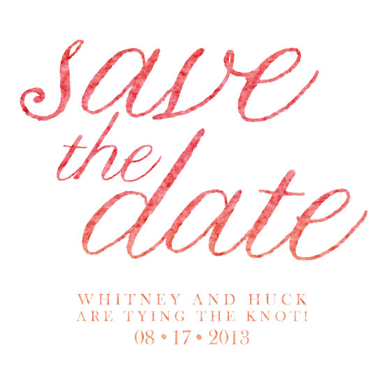 save the date cards - Peach Waves by Green Tie Studio