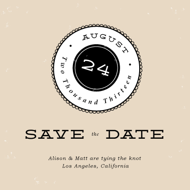 save the date cards - Simply Scalloped by Monica Schafer
