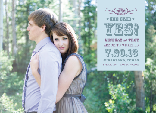 save the date cards - She said yes! by Stacy Fox
