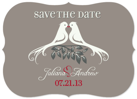 save the date cards - Love Birds by Sadagat Aliyeva