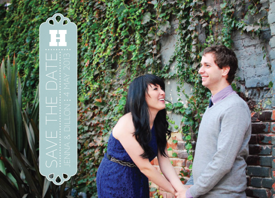 save the date cards - Sideways by Hattie and Jane