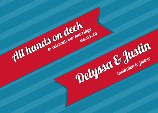 save the date cards - All Hands on Deck by Stacy Fox