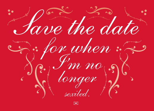 save the date cards - Sexiled by Lance Jackson