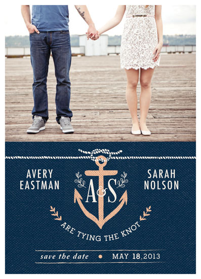 save the date cards - Knotted Nautical Whimsy by Rachel Marvin Creative